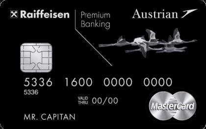 Кредитная карта Райффайзен Банка Austrian Airlines Black Edition