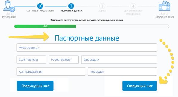 Веб-займ — анкета в личном кабинете