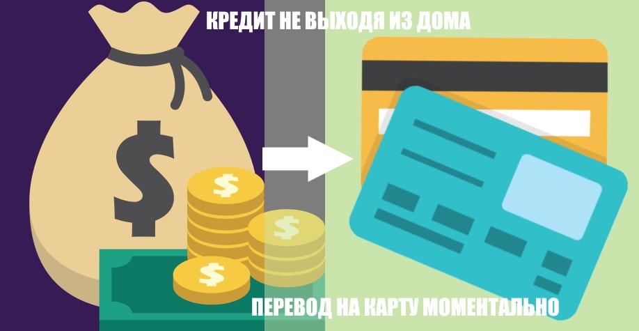Кредит не выходя из дома — перевод на карту моментально